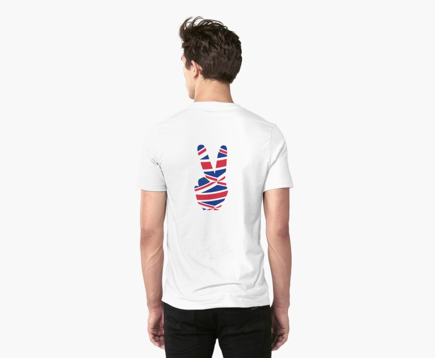 British  Peace Sign T Shirt by simpsonvisuals