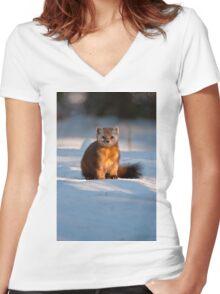 Pine Marten Women's Fitted V-Neck T-Shirt