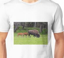 Bison And Calves Unisex T-Shirt