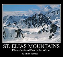 St Elias mountains poster by Istvan Hernadi
