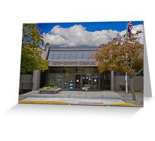 Park County Montana Court House Greeting Card