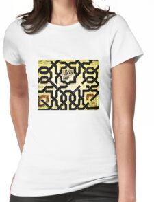 Geometric Design of Love Womens Fitted T-Shirt