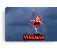 Skipping Girl Cloudy Canvas Print