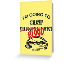 Camp Blood Greeting Card