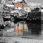 Mevagissy Harbour reflections by StephenRB