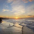 Whitby sunset, North Yorkshire by StephenRB