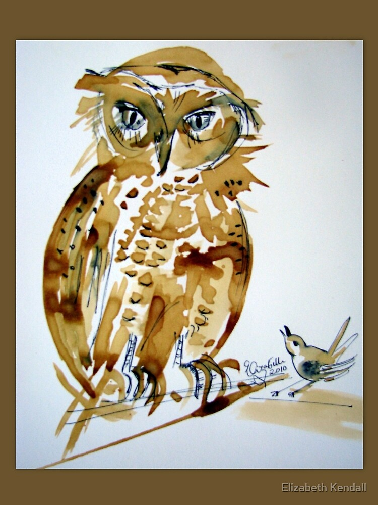 Giant Eagle Owl knows all the answers! by Elizabeth Kendall