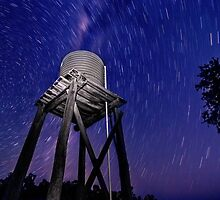 Tank and star trails by Julie Holland