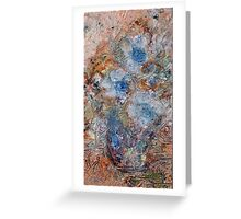 THREE BLUE FLOWERS  by Janai-Ami Greeting Card