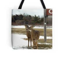 Pssst...hey listen up...the good food is across the road! Tote Bag