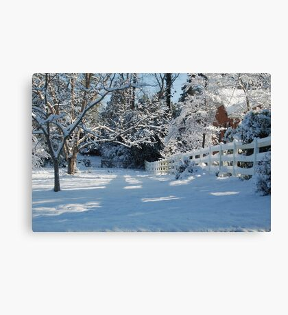 White Fence #2 Canvas Print