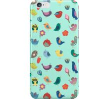 Vintage Birds and Flowers iPhone Case/Skin