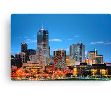 Downtown Denver at Dusk HDR Canvas Print