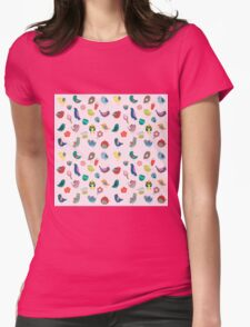 Vintage Birds and Flowers Womens Fitted T-Shirt