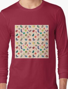 Vintage Birds and Flowers Long Sleeve T-Shirt