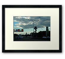 Late Afternoon Traffic Framed Print