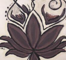Purple Lotus Om Sticker