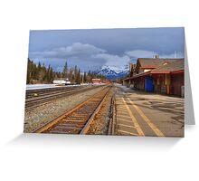 Banff Railyard Greeting Card