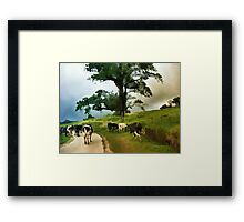 Going Home After A Days Outing  Framed Print