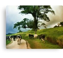 Going Home After A Days Outing  Canvas Print