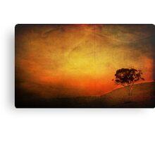 Sunset Textured Tree Landscape Canvas Print
