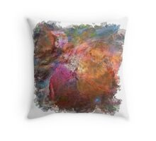 Cosmic Mushrooms 1 (framed version) Throw Pillow