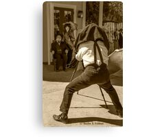 History Comes Alive...The Tintype Camera Canvas Print