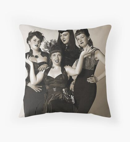 The golden years with Les Girls. Throw Pillow