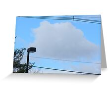cloud on a wire Greeting Card