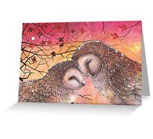 Owl Cuddle Greeting Card
