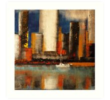 In the shadow of the tower Art Print