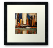 In the shadow of the tower Framed Print
