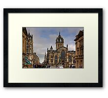 Looking down the High Street Framed Print