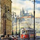Prague Kaprova Street by Yuriy Shevchuk