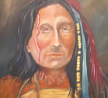 Short Bull, Lakota Sioux Chief by judiegiglio