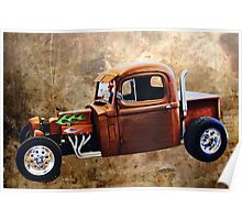 Rat Rod with Semi Cab Poster