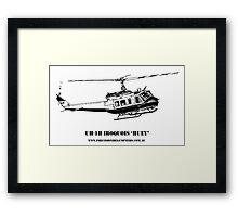 Huey Helicopter Graphic Framed Print