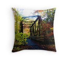 Train Trestle Bridge Throw Pillow