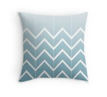 Broken Chevrons (Aqua) Throw Pillow