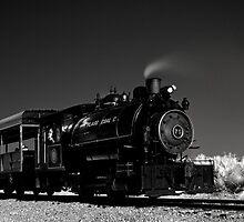 Flagg Coal Steam Engine BW IR 1 by MKWhite