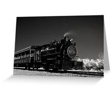 Flagg Coal Steam Engine BW IR 1 Greeting Card