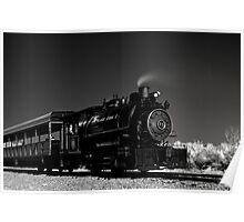 Flagg Coal Steam Engine BW IR 1 Poster