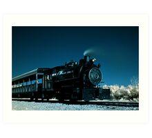 Flagg Coal Steam Engine Color IR Art Print
