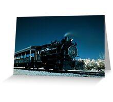 Flagg Coal Steam Engine Color IR Greeting Card