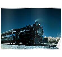Flagg Coal Steam Engine Color IR Poster
