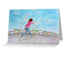 Running girl  Greeting Card