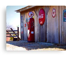"""Restored Fire Chief Gaspump""  Canvas Print"