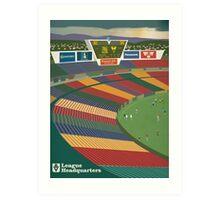 VFL Park - League HQ Hell Kelpie version Art Print