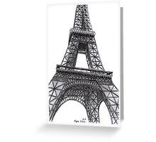 Eiffel Tower, Paris, France. Greeting Card