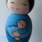 Buddha Mama Blue by Suzi Linden